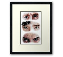 The Eyes of BBC's SHERLOCK Framed Print
