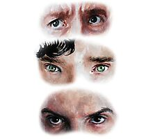 The Eyes of BBC's SHERLOCK Photographic Print