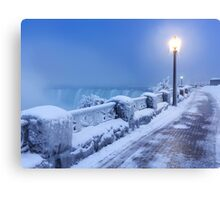 Niagara Falls city wintertime scenery art photo print Canvas Print