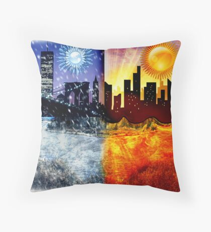 Global Climate Change Throw Pillow