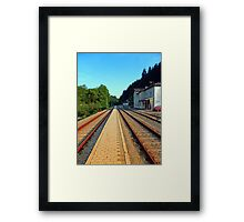 Haslach railway station | architectural photography Framed Print