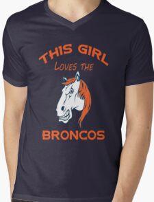 This Girl Loves Broncos  Mens V-Neck T-Shirt
