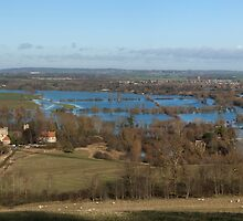 Panoramic Day's Lock Oxfordshire by Jim Hellier