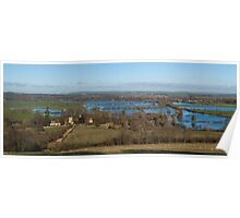 Panoramic Day's Lock Oxfordshire Poster