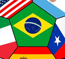 various flags - Brazil 2014 by siloto