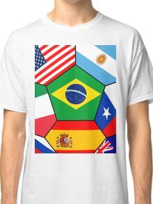 various flags - Brazil 2014 Classic T-Shirt