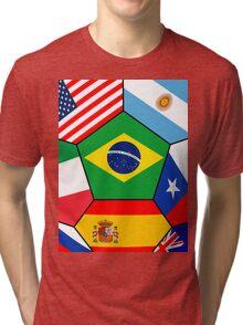various flags - Brazil 2014 Tri-blend T-Shirt