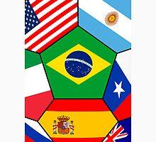 various flags - Brazil 2014 Unisex T-Shirt