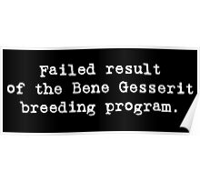 Failed Bene Gesserit Poster