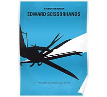 No260 My Scissorhands minimal movie poster Poster