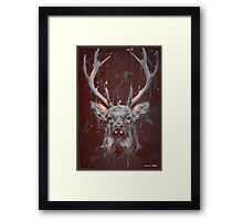 DARK DEER Framed Print