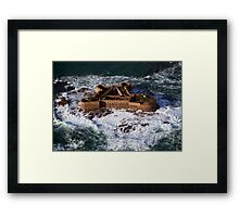 Huge Seas Framed Print