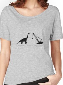 Lonely Dinosaur Meets Crane Women's Relaxed Fit T-Shirt