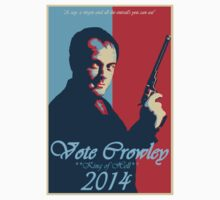 Vote Crowely T-shirt by AlistairCowley