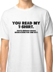 Social Interaction Classic T-Shirt