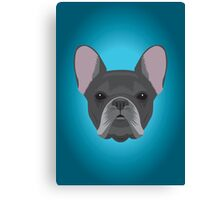 Black French Bulldog Canvas Print