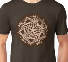 Rochester Mandala (browns with hearts) Unisex T-Shirt