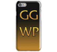 GG WP  iPhone Case/Skin