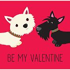 Be My Valentine – Westie & Scottie by BonniePortraits