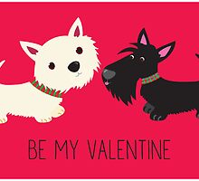 Be My Valentine – Westie & Scottie by BonniePortraits
