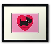 Be My Valentine – Scottie Framed Print