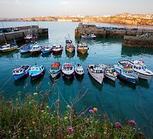 Newquay Harbour at Sunset by Darren Peet