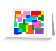 COLOURED SURFACES DISTRIBUTION Greeting Card