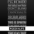 Geek4Life - Quotes (black) by chubbyblade