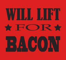 Will Lift For Bacon - Funny Crossfit Saying One Piece - Long Sleeve