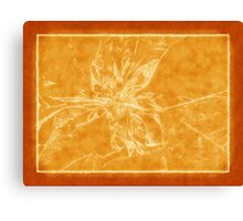 Pale Yellow Poinsettia 1 Outlined Orange Canvas Print