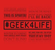Geek4Life - Quotes (White) Kids Tee
