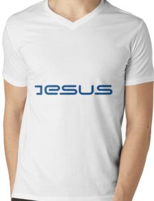 Jesus Style Sign Mens V-Neck T-Shirt