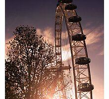 London Sunset, London Eye Photographic Print
