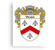 Walsh Coat of Arms / Walsh Family Crest Canvas Print