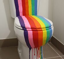 Colour Installation Rainbow Toilet by Linda Sharman