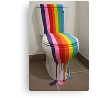 Colour Installation Rainbow Toilet Canvas Print