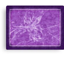 Pale Yellow Poinsettia 1 Outlined Purple Canvas Print