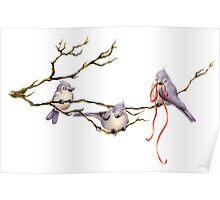 3 Birds Poster