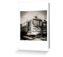Vintage Streetcar Trolley 1814 Greeting Card