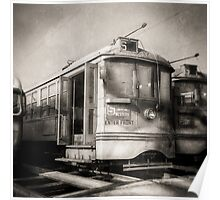 Vintage Streetcar Trolley 1814 Poster