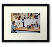 His invention to replace the Magic 8-ball was a failure. The only answer it would give--I'm a frayed knot. Framed Print