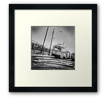 Vintage Streetcar Trolley 1232 Framed Print