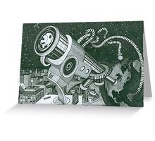 Microscope or Telescope Greeting Card