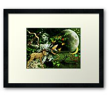 Diana, the goddess of Nature, the Hunt, Fertility, Childbirth and the Moon (month of August) Framed Print