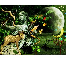 Diana, the goddess of Nature, the Hunt, Fertility, Childbirth and the Moon (month of August) Photographic Print