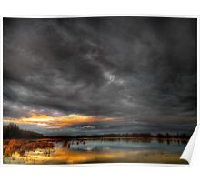 Big Sky At Finley Refuge Poster
