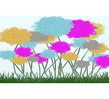 Splat Painted Flower Scene Photographic Print