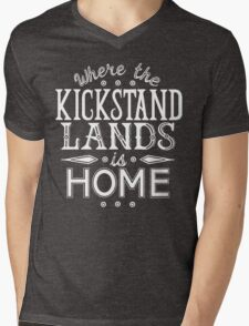 Where the Kickstand Lands is Home - As the Magpie Flies Mens V-Neck T-Shirt