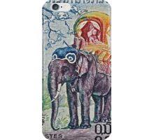 1958 Laos Elephant Stamp iPhone Case/Skin