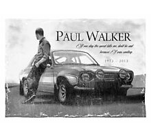 Paul Walker Photographic Print